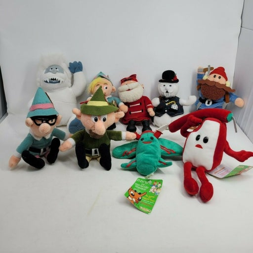 Rudolph The Red-Nosed Reindeer Plush Figures Island of Misfit Toys- Lot of 9