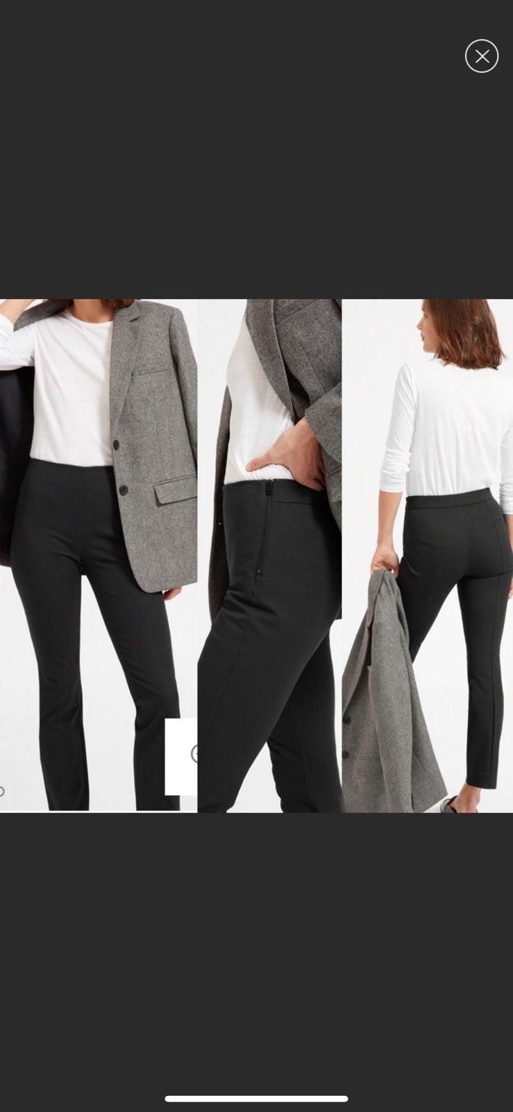 Everlane black side zip work crop pants