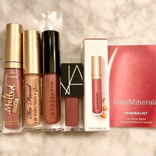 Nars Bareminerals Toofaced Lip Gloss Set