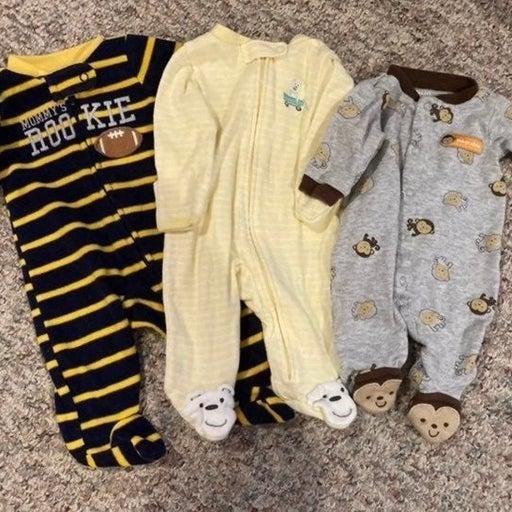 3 Carter's Baby Boy Sleepers 21A