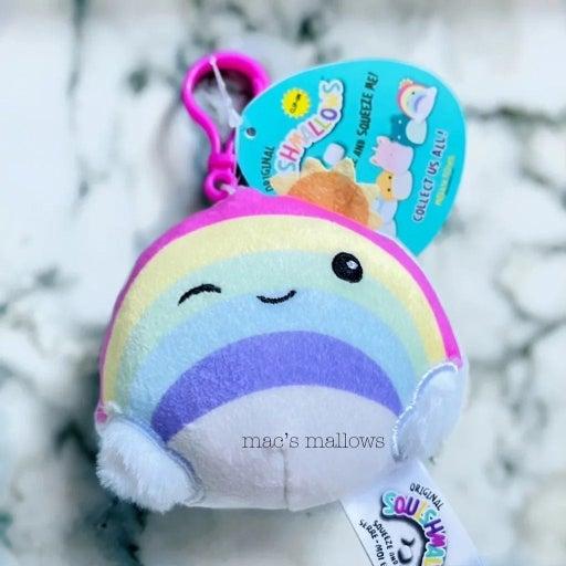"""Squishmallow Vera Rainbow 3.5"""" Clip"""