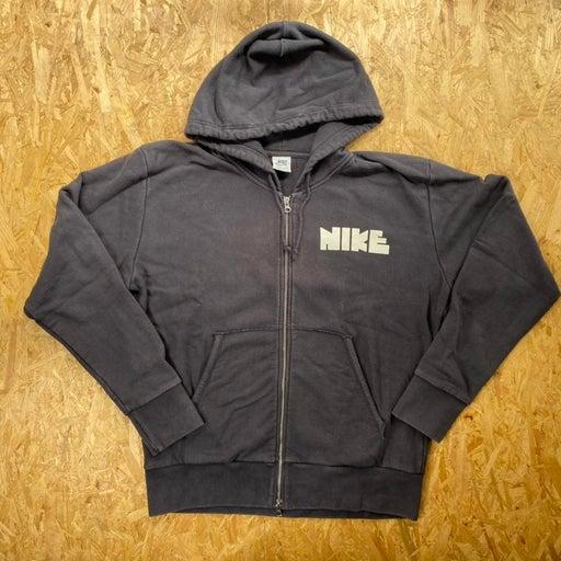 80s 90s Vintage Nike Sportswear Spell Out Zip Up Hoodie