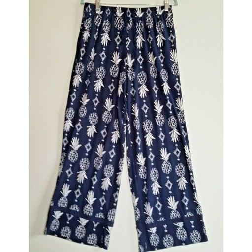 Cuddl Duds Flannel Lounge Pants Blue Med