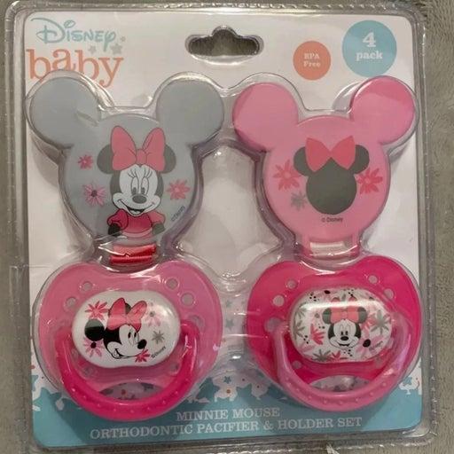 Disney minnie mouse pacifier set