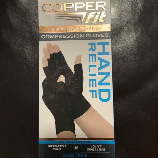 Copper infused compression gloves NEW IN BOX