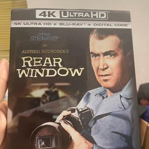Alfred Hitchcock's REAR WINDOW (4K ULTRA HD, Blu-ray, Digital, Slipcover) NEW