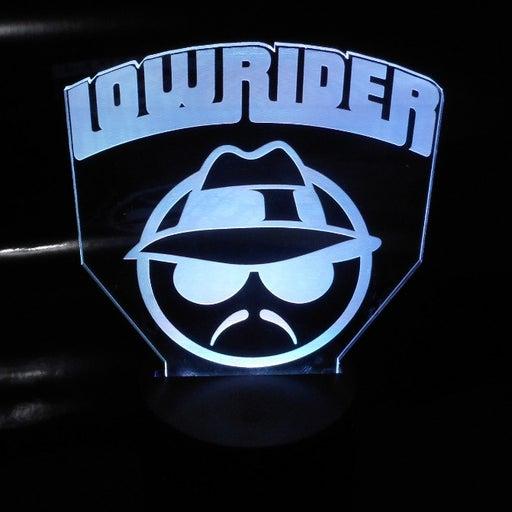"Low Rider 6.5"" Custom Lowrider V.1 Laser Engraved 3D Acrylic LED Night Lamp"