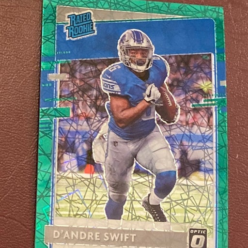 D'andre Swift 2020 Optic Green Velocity Prizm rated rookie rc lions UGA