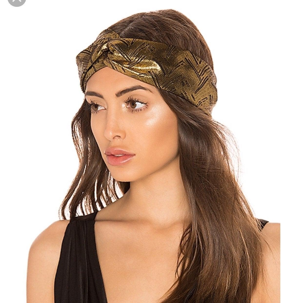 New! Super Cute Bronze Turban Headband