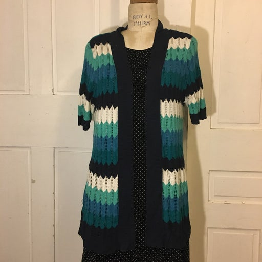 Blue and white striped wrap