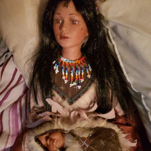 A indian porcelain doll