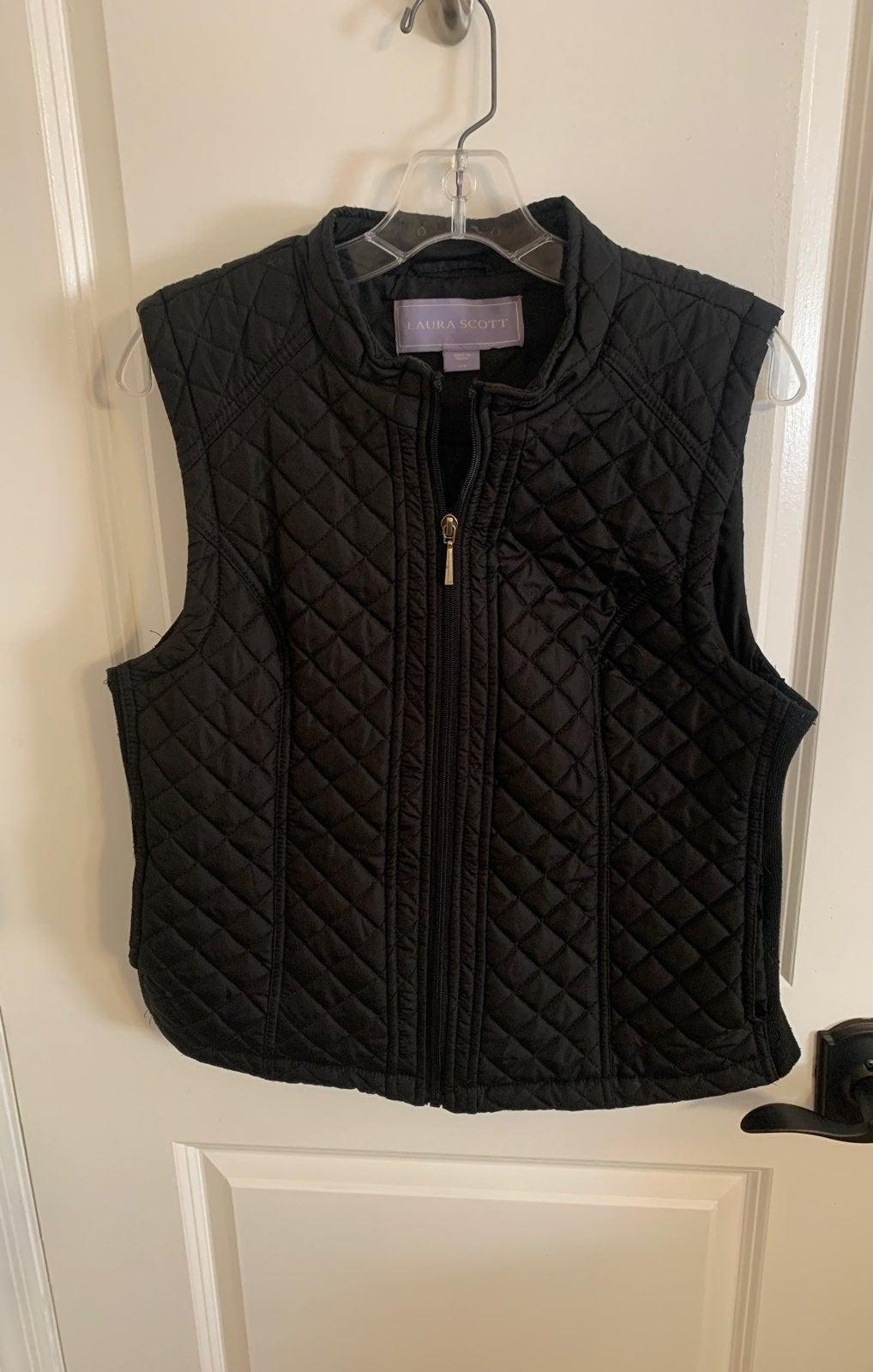 Black Womans Vest- Size L
