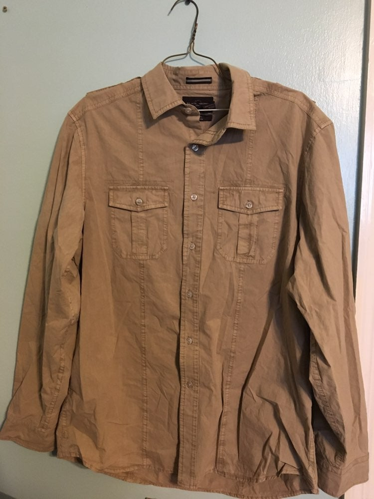 Tan Long Sleeve Button Down Shirt