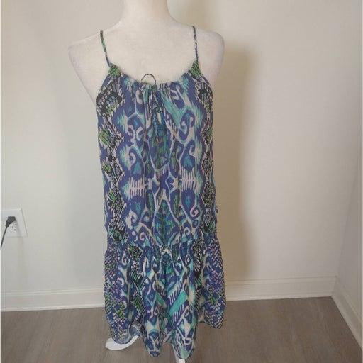 Black halo purple teal silk midi dress