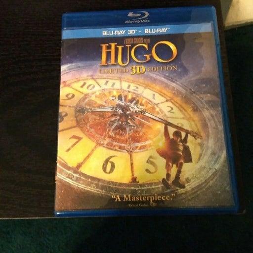 Hugo Blu Ray 3D/Blu Ray (Rare OOP)
