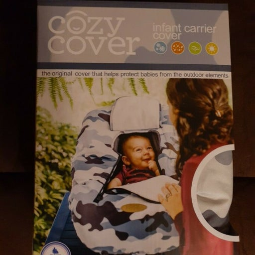 COZY COVER Infant Carrier Cover BLUE CAM