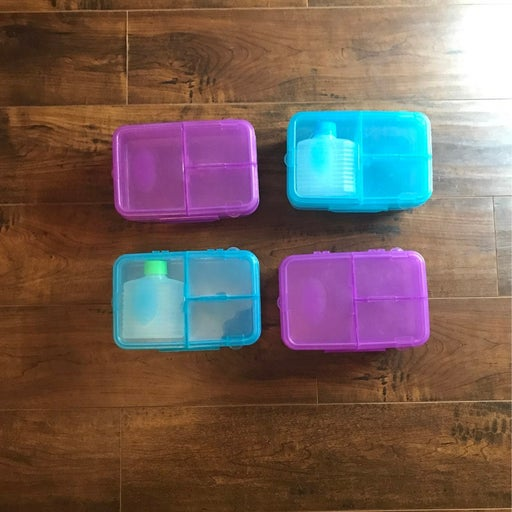 FOUR Snap closure Lunch Boxes