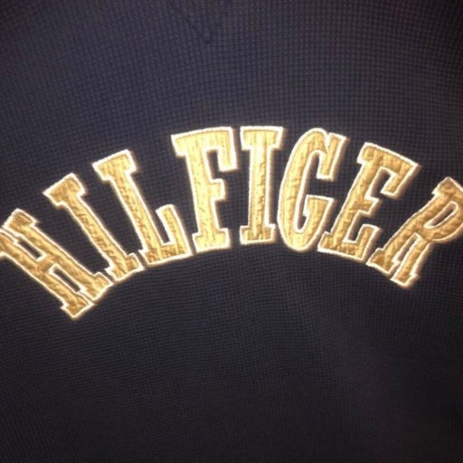 Vintage Tommy Hilfiger waffle weave navy blue  rugby shirt XL