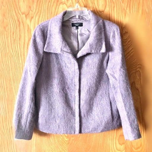 Talbots mohair blend lavender coat, 14P