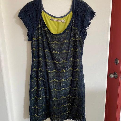 Chelsea & Violet large navy lace dress