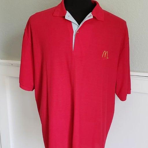 Vintage McDonald's 80s 90s Polo Shirt XL