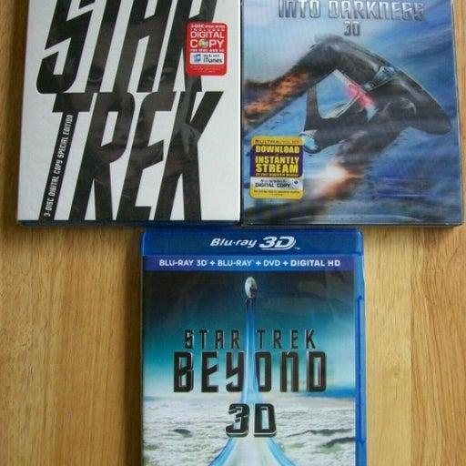 Star Trek Blu Ray 3D+Blu-ray+DVD Into Darkness Beyond Kelvin Timeline 9 Disc Set
