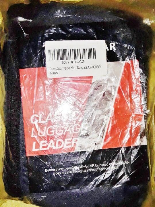 CrossGear Packable Backpack/Daypack,Grey