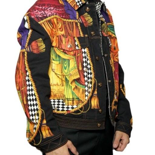 VERSACE Graphic SiparioDenim Jacket SZ M