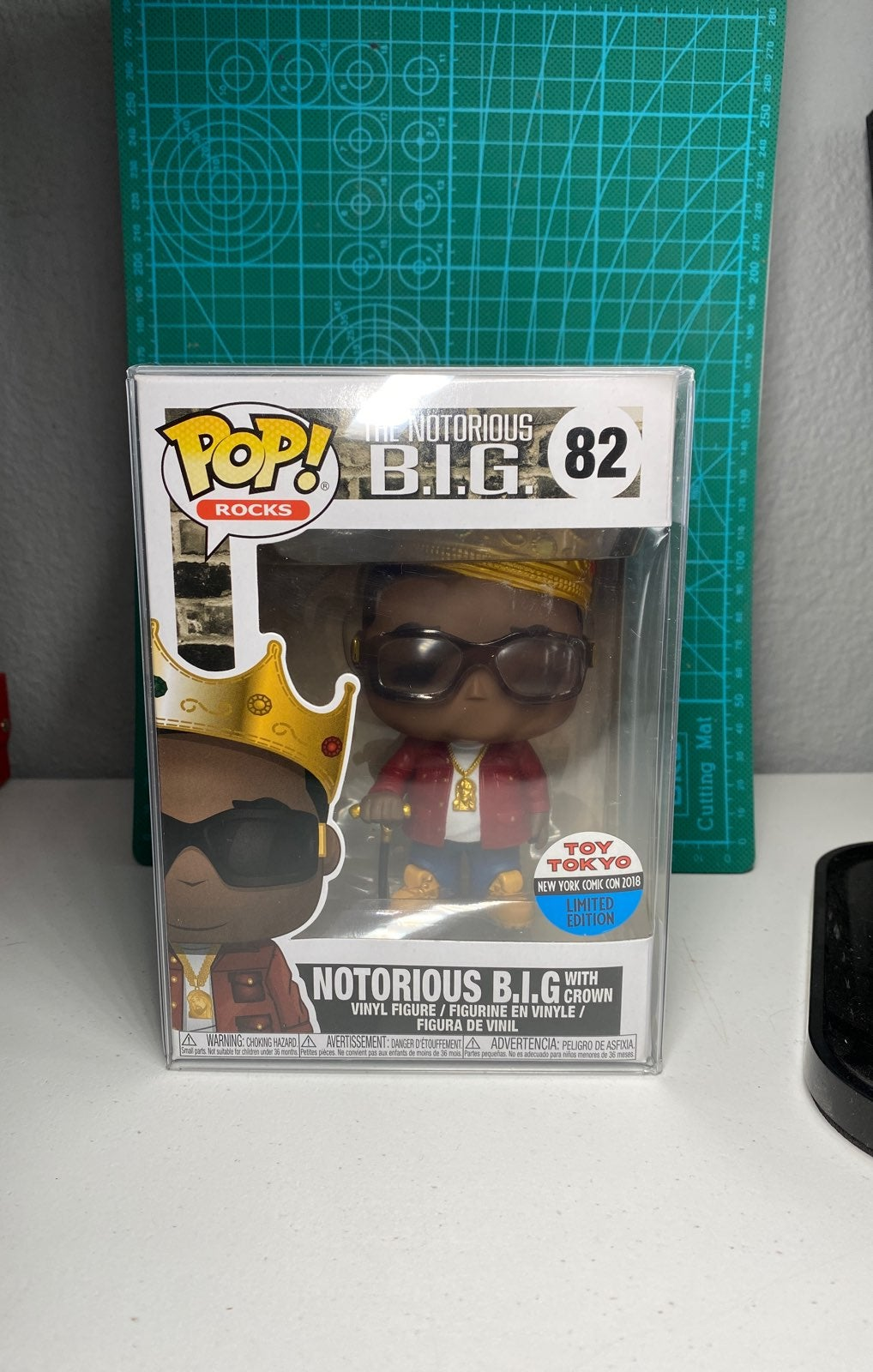 Notorious B.I.G with Crown funko pop