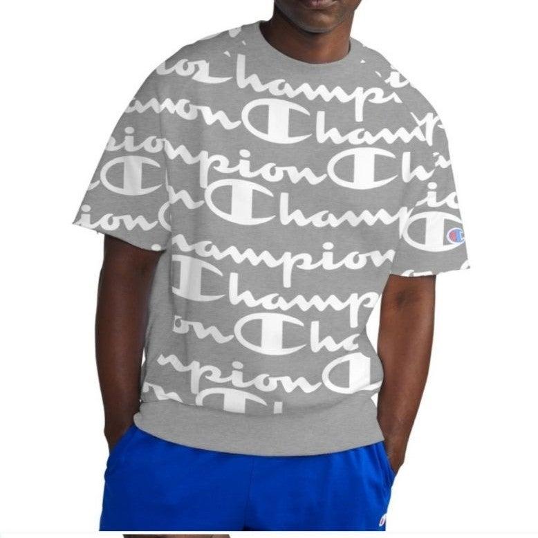 Champion Men's Fleece Grey Logo Pullover
