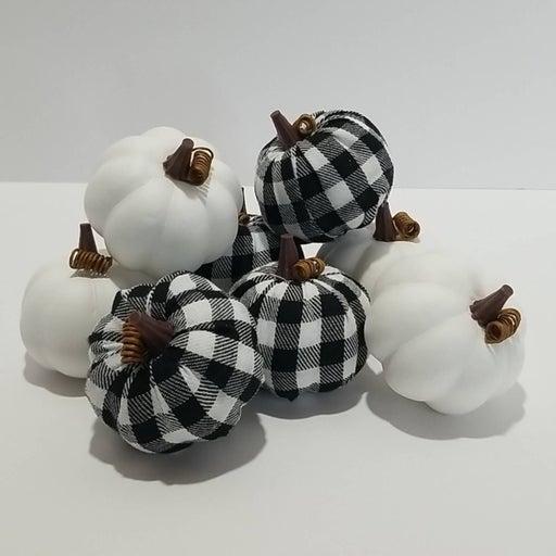 Robert Stanley Buffalo check pumpkins Decorative fall decor