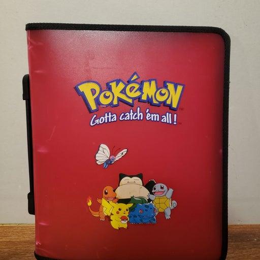 1999 Vintage RED Pokemon Card Holder Toy