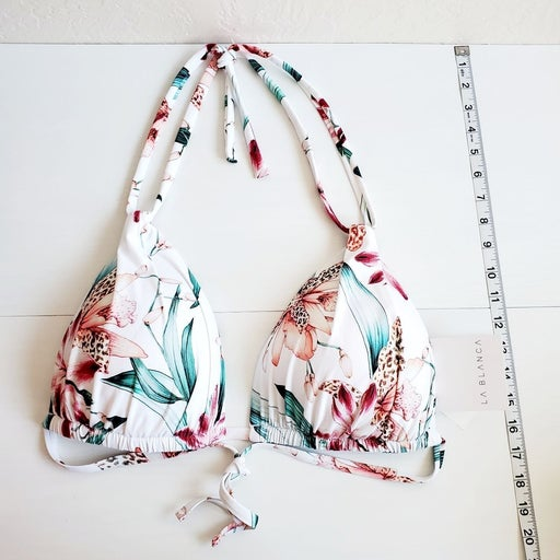 Nwt Rare La Blanca floral halter swim to