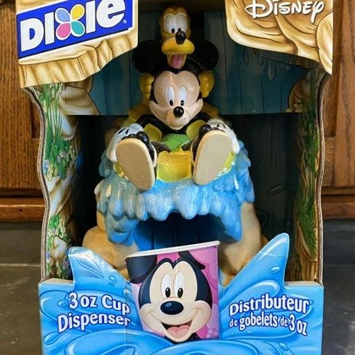Vintage Dixie 3oz Cup Dispenser Disney Splash Mountain Mickey Mouse & Pluto