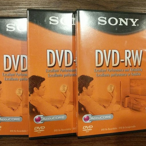 SONY DVD-RW AccuCORE 3 Disc & Case Lot
