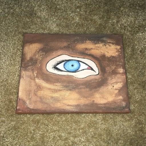 10 x 8 blue eye painting