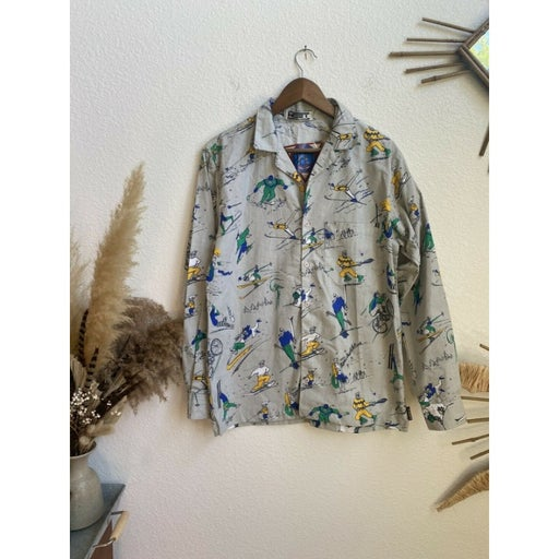 1980's Heet Mens Totally 80s Sport vintage button up Shirt