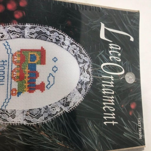 Train Puffy Happy Holidays Lace Ornament