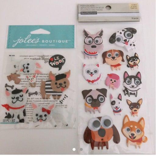 Dog stickers / eyes + felt emellishment