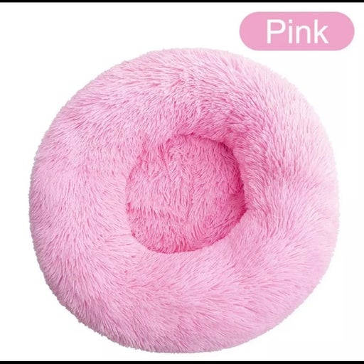 Small pink cozy soft fur Dog Bed