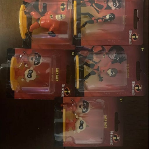 The Incredibles Set Of 5 Mini Action Fig