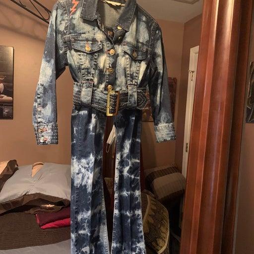 Jean Jacket/pants Bundle, Sz Medium