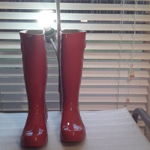 Glossy Red Hurricane ll Rain Boots.