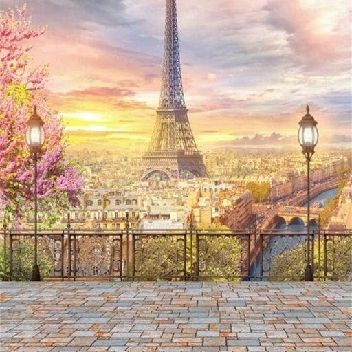 Paris Vinyl Photo  Backdrop