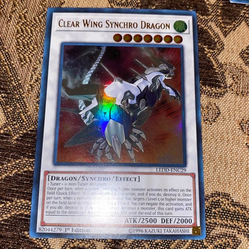 Rare Clear Wing Synchro Dragon Yugioh Card