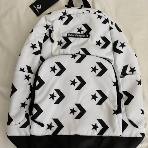 Converse White and Black Backpack