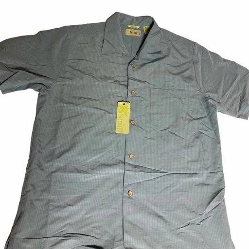Cubavera Mens Blue Button Up Shirt M