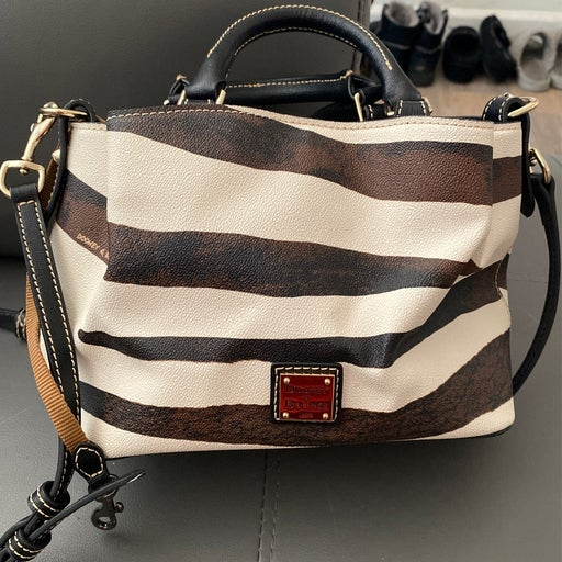 Dooney & Bourke Serengeti Pouchette Zebra Crossbody Bag