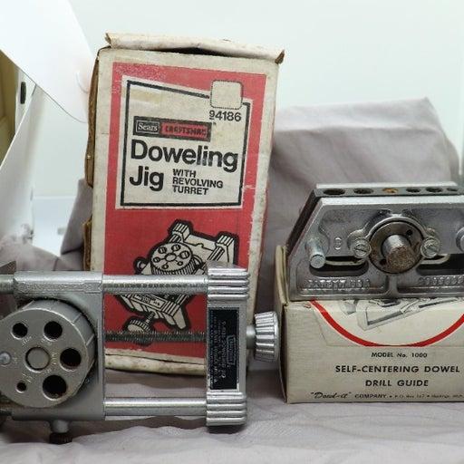 Vtg. DOWL-IT Model 1000 Self-Centering Dowel Drill Guide & Craftsman Jig 94186