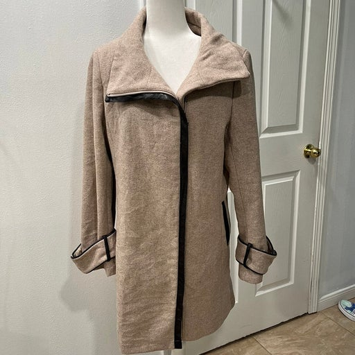 Calvin Klein wool blend trench coat size 14